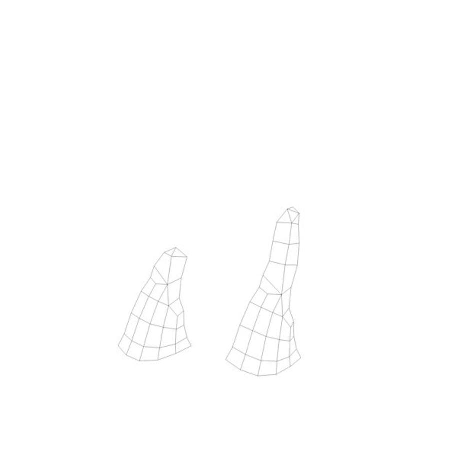 Stades de croissance des arbres Low poly royalty-free 3d model - Preview no. 17