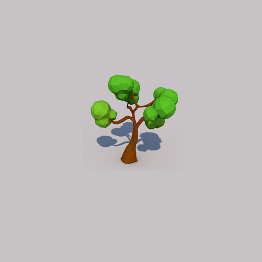 Stades de croissance des arbres Low poly royalty-free 3d model - Preview no. 10