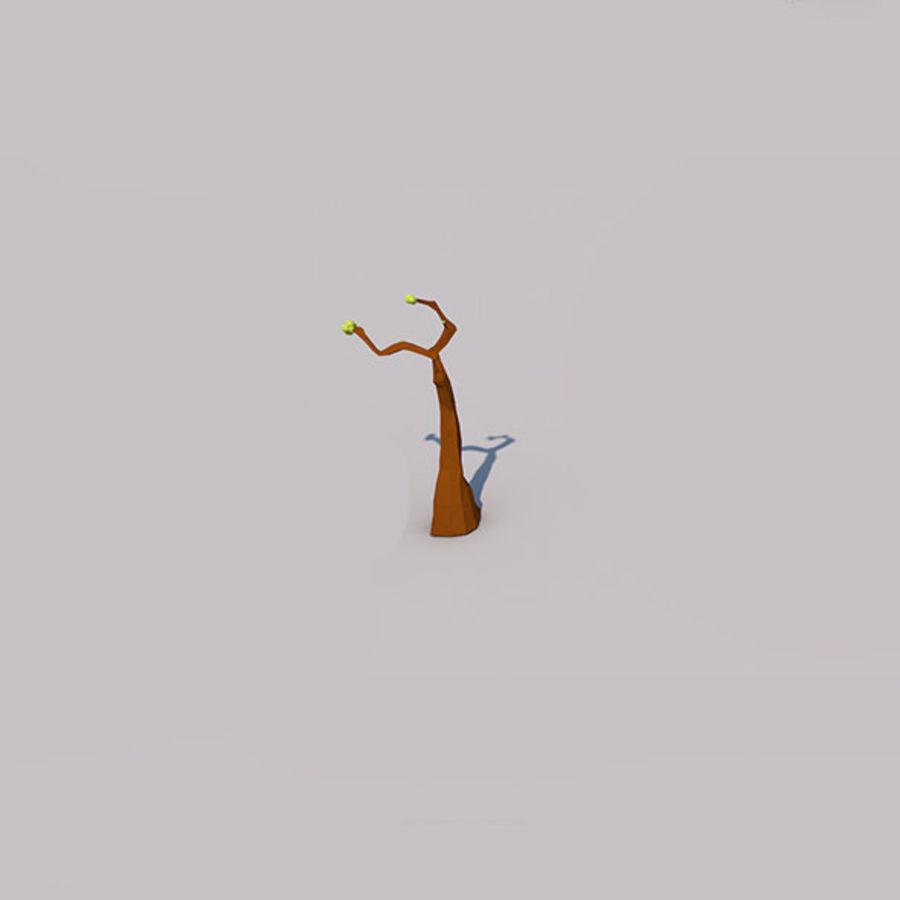Stades de croissance des arbres Low poly royalty-free 3d model - Preview no. 6