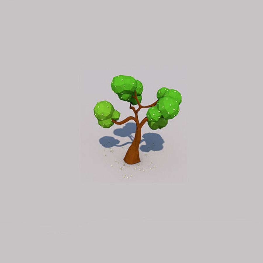 Stades de croissance des arbres Low poly royalty-free 3d model - Preview no. 11