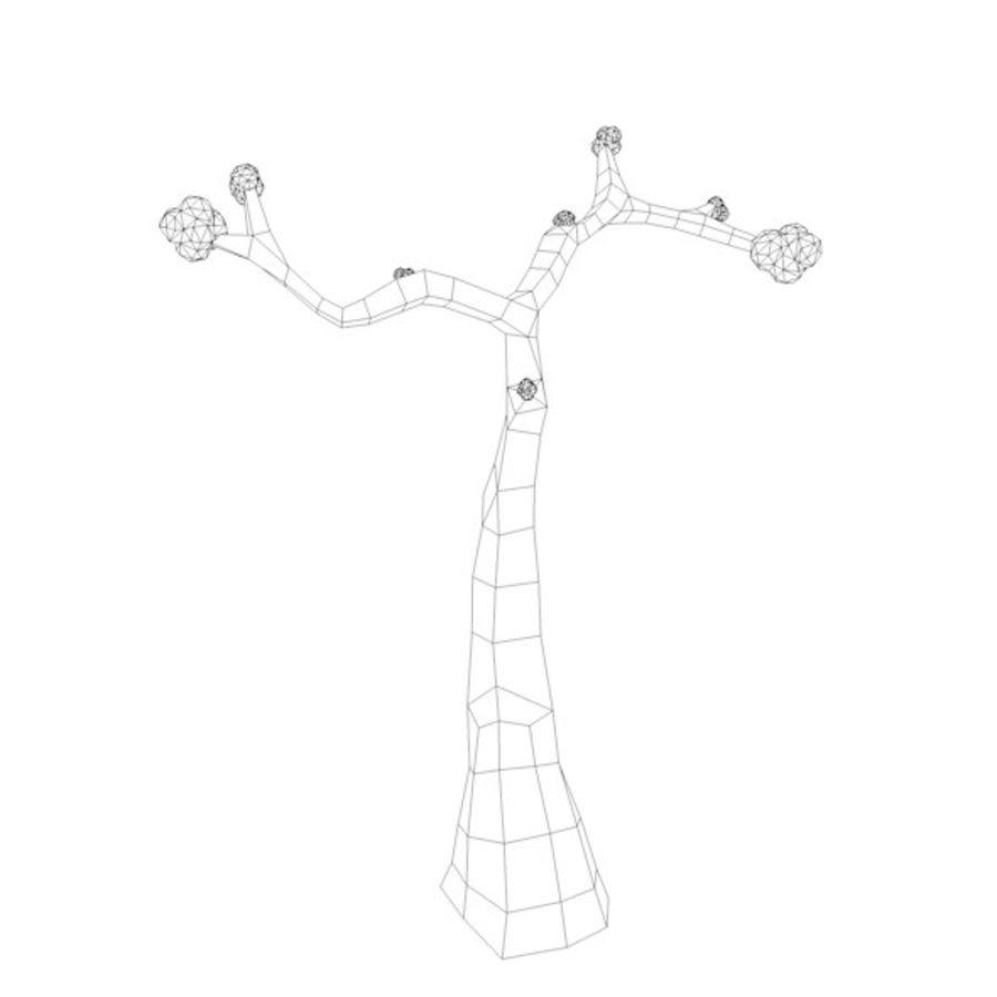 Stades de croissance des arbres Low poly royalty-free 3d model - Preview no. 20
