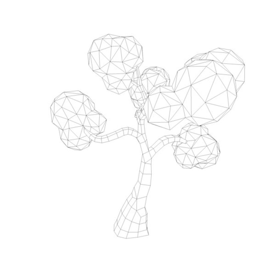 Stades de croissance des arbres Low poly royalty-free 3d model - Preview no. 15