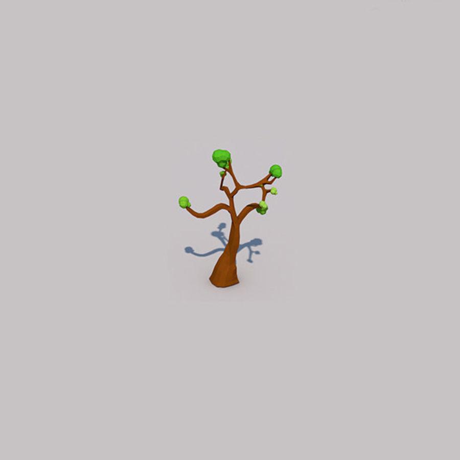 Stades de croissance des arbres Low poly royalty-free 3d model - Preview no. 8