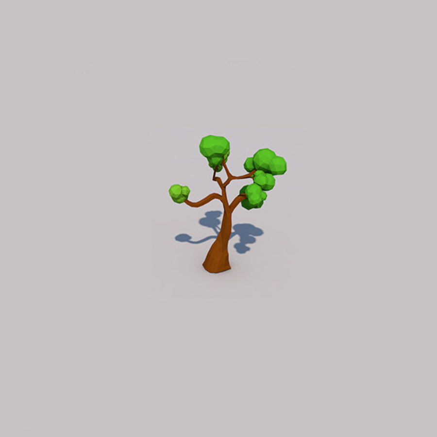 Stades de croissance des arbres Low poly royalty-free 3d model - Preview no. 9