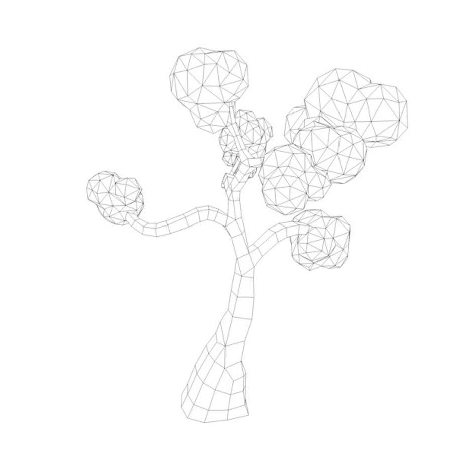 Stades de croissance des arbres Low poly royalty-free 3d model - Preview no. 16