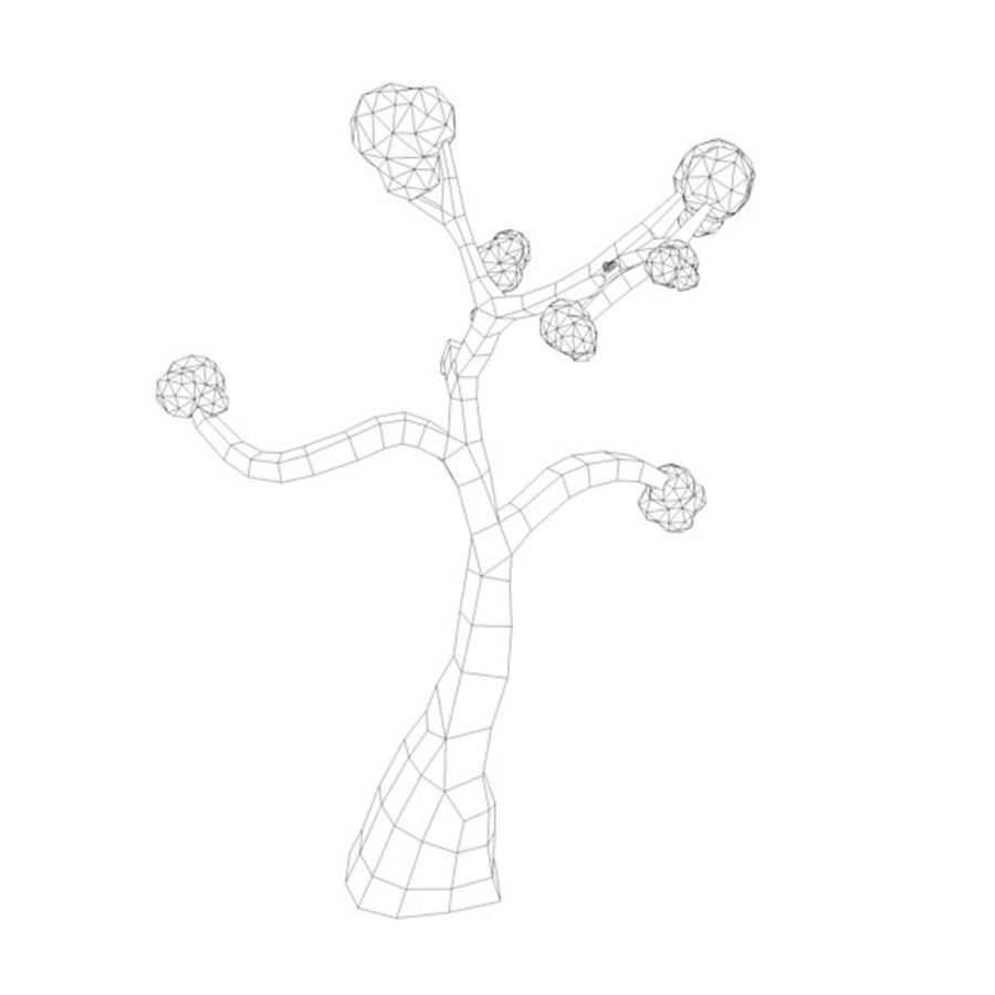 Stades de croissance des arbres Low poly royalty-free 3d model - Preview no. 21