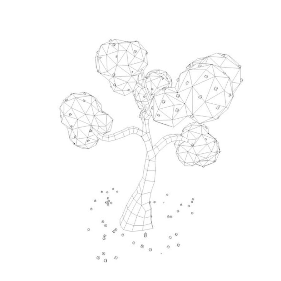 Stades de croissance des arbres Low poly royalty-free 3d model - Preview no. 14