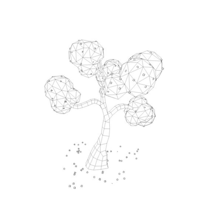 Stades de croissance des arbres Low poly royalty-free 3d model - Preview no. 13