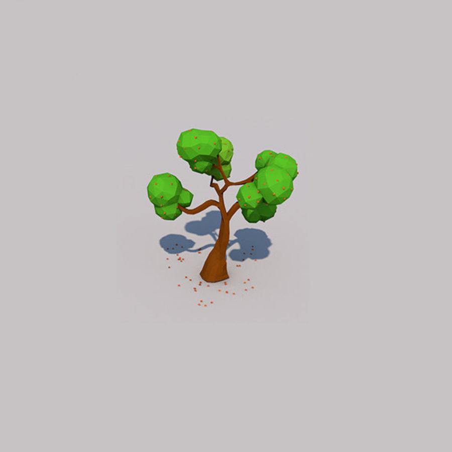 Stades de croissance des arbres Low poly royalty-free 3d model - Preview no. 12