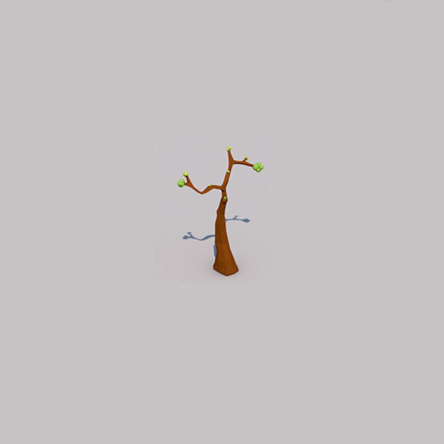 Stades de croissance des arbres Low poly royalty-free 3d model - Preview no. 7