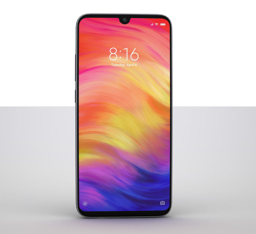 Xiaomi Redmi NOte 7 royalty-free 3d model - Preview no. 2