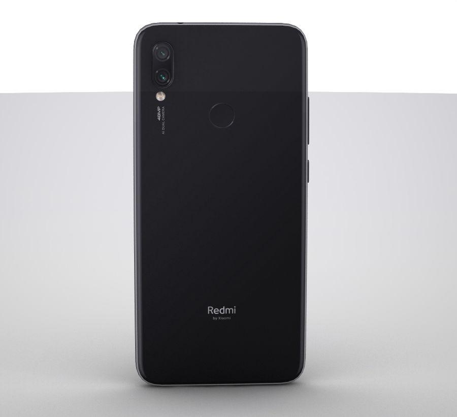 Xiaomi Redmi NOte 7 royalty-free 3d model - Preview no. 2