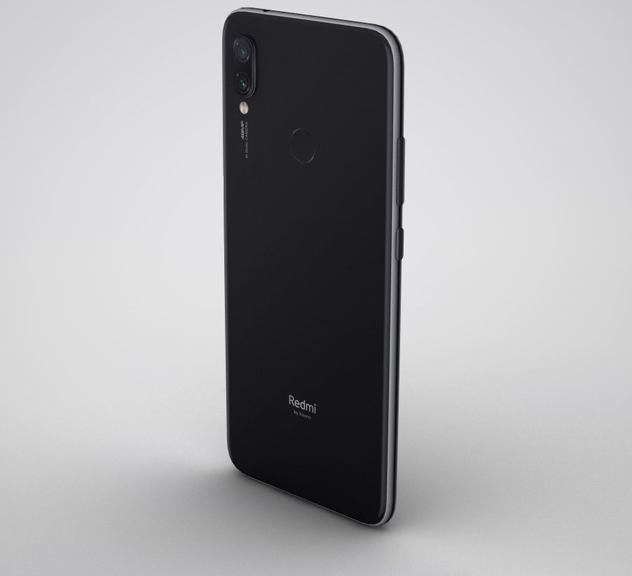 Xiaomi Redmi NOte 7 royalty-free 3d model - Preview no. 4
