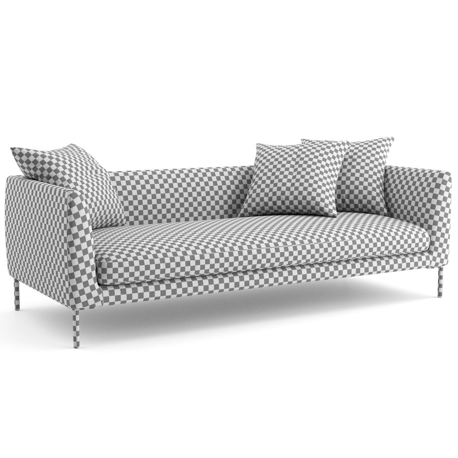 Blade Sofa firmy Wendelbo royalty-free 3d model - Preview no. 6