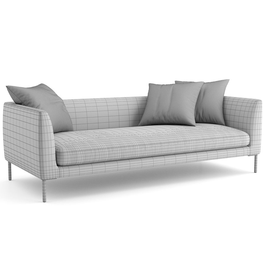 Blade Sofa firmy Wendelbo royalty-free 3d model - Preview no. 7