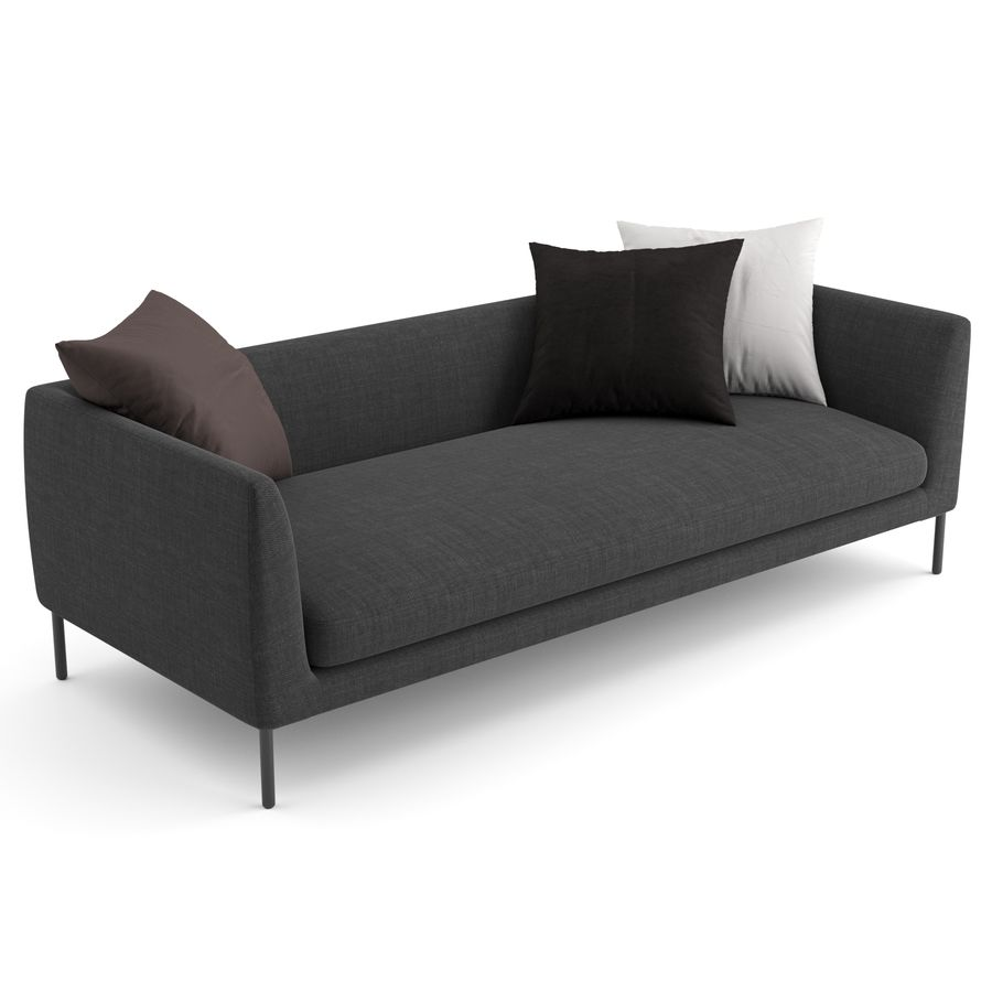 Blade Sofa firmy Wendelbo royalty-free 3d model - Preview no. 3