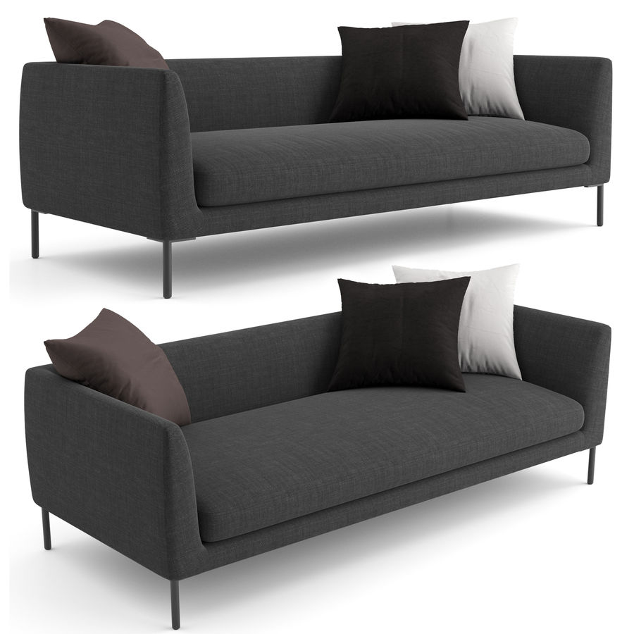 Blade Sofa firmy Wendelbo royalty-free 3d model - Preview no. 5