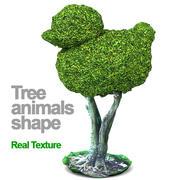 Bäume formen Tiere HD 3d model