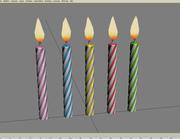 Velas de cumpleaños modelo 3d