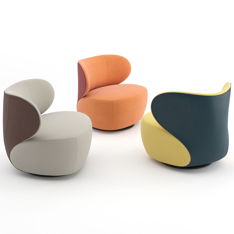 Walter Knoll Design Fauteuil.Bao Armchair By Walter Knoll 3d Model 14 Max Free3d