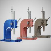 Prensa de banco de precisión - 01 genérico (limpio, usado y oxidado) modelo 3d