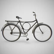 Bicycle - Monark (Black, Blue and Red) 3d model