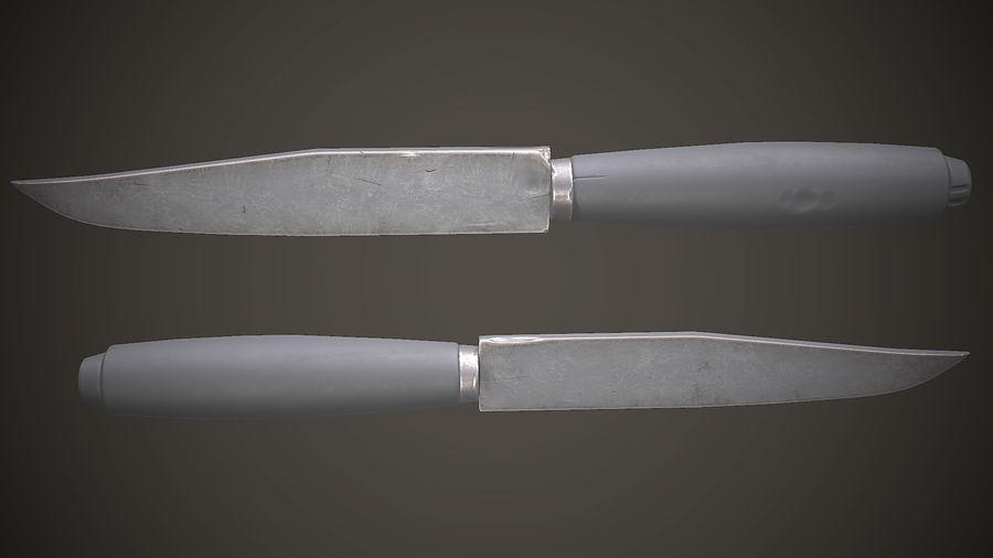 Gamla sovjetiska kniv PBR-spel redo royalty-free 3d model - Preview no. 6
