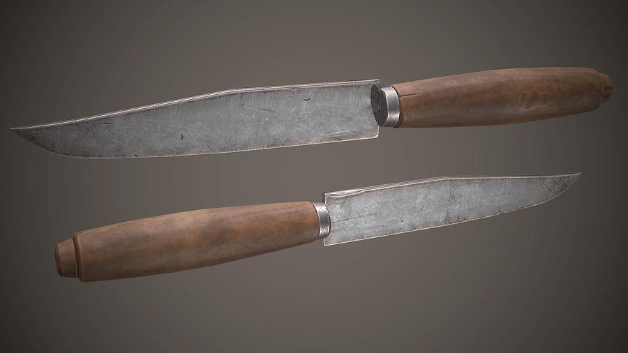 Gamla sovjetiska kniv PBR-spel redo royalty-free 3d model - Preview no. 2