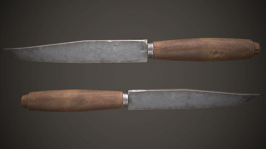Gamla sovjetiska kniv PBR-spel redo royalty-free 3d model - Preview no. 5