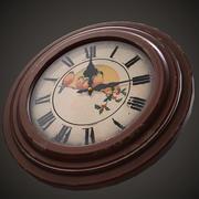 Jeu d'horloge murale soviétique prêt 3d model