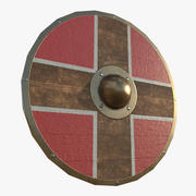Parma Shield Red 3d model