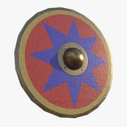 Parma Shield Blue Star 3d model