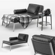 Flexform Happy Chaise Longue 3d model