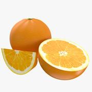 Fruits orange 3d model