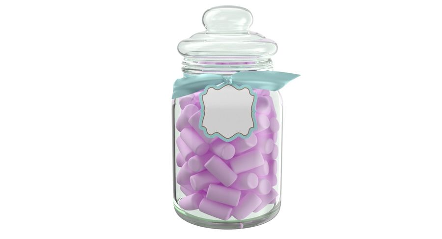 Marshmallow Gift Candy Jar royalty-free 3d model - Preview no. 5