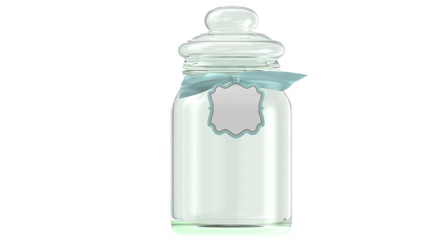 Marshmallow Gift Candy Jar royalty-free 3d model - Preview no. 3
