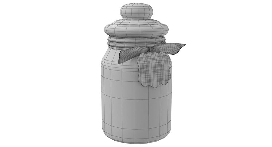 Marshmallow Gift Candy Jar royalty-free 3d model - Preview no. 8