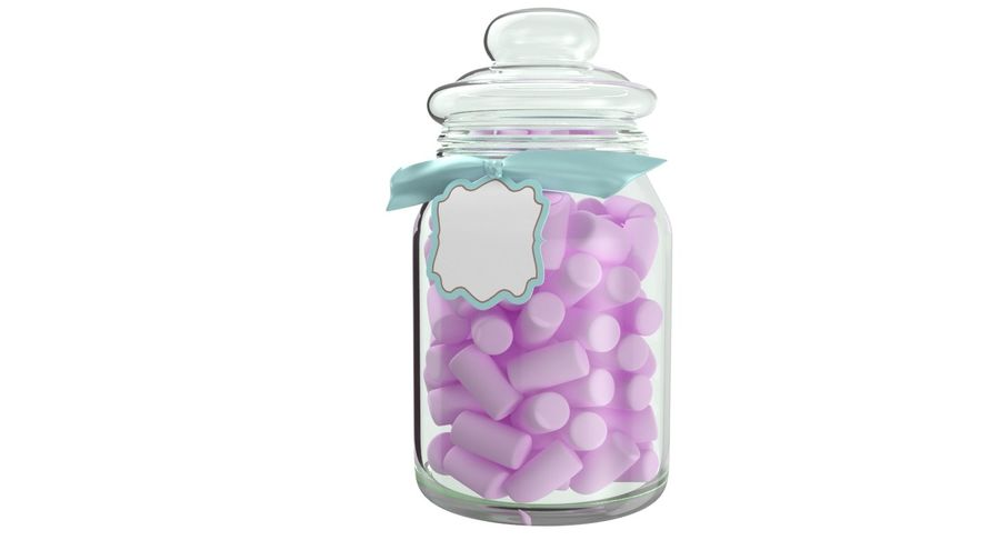 Marshmallow Gift Candy Jar royalty-free 3d model - Preview no. 4