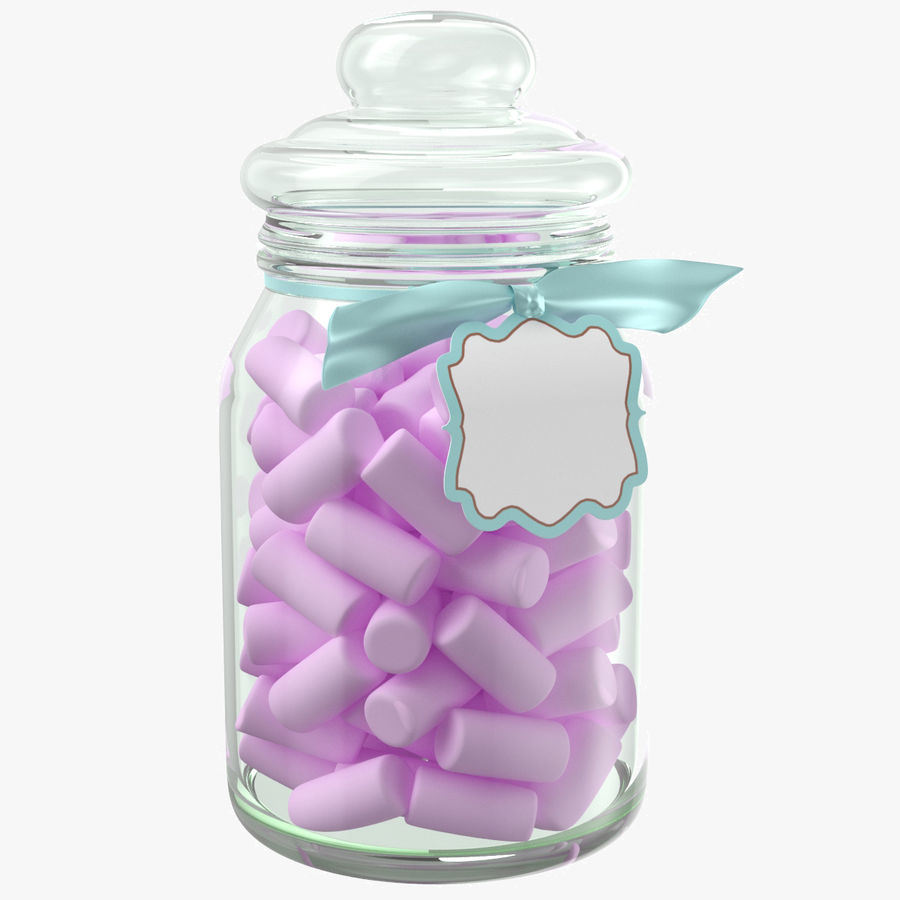 Marshmallow Gift Candy Jar royalty-free 3d model - Preview no. 1