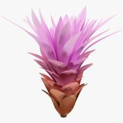 Fleur dessin animé v1 3d model