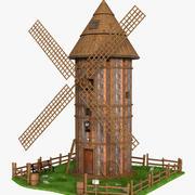 Wood WindMill 3d model