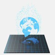 Hologram Earth Planet 3d model