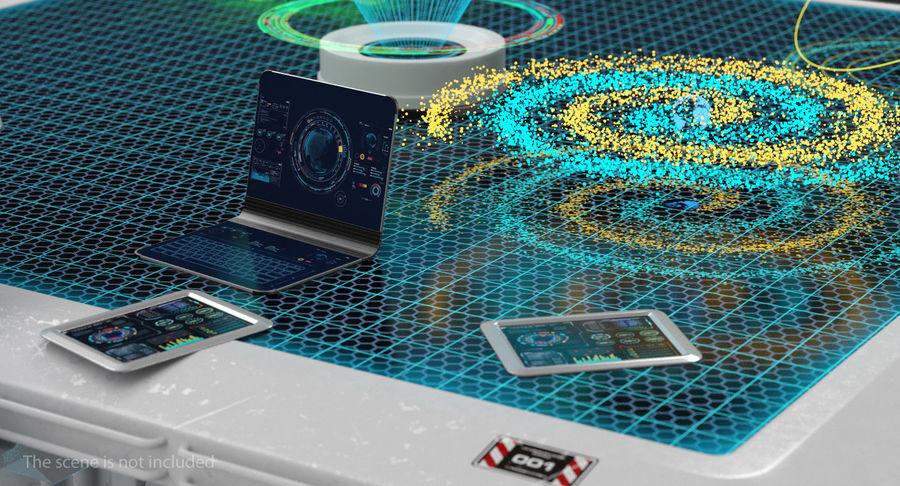 Spiral Hologram 3D Model royalty-free 3d model - Preview no. 4