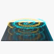 Spiral Hologram 3D Model 3d model