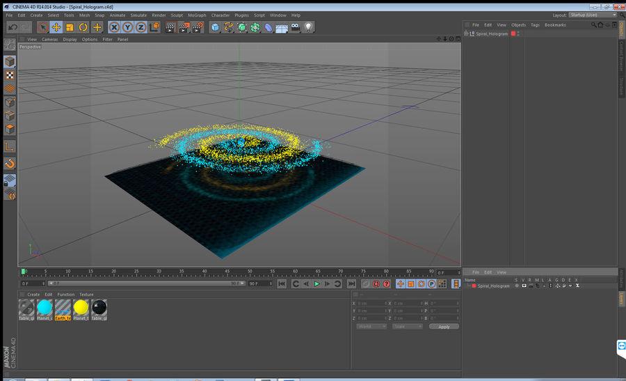 Spiral Hologram 3D Model royalty-free 3d model - Preview no. 15