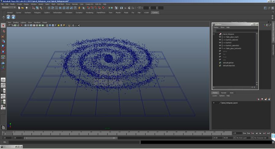 Spiral Hologram 3D Model royalty-free 3d model - Preview no. 14