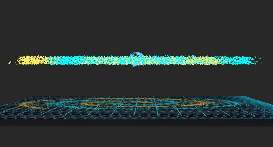 Spiral Hologram 3D Model royalty-free 3d model - Preview no. 9