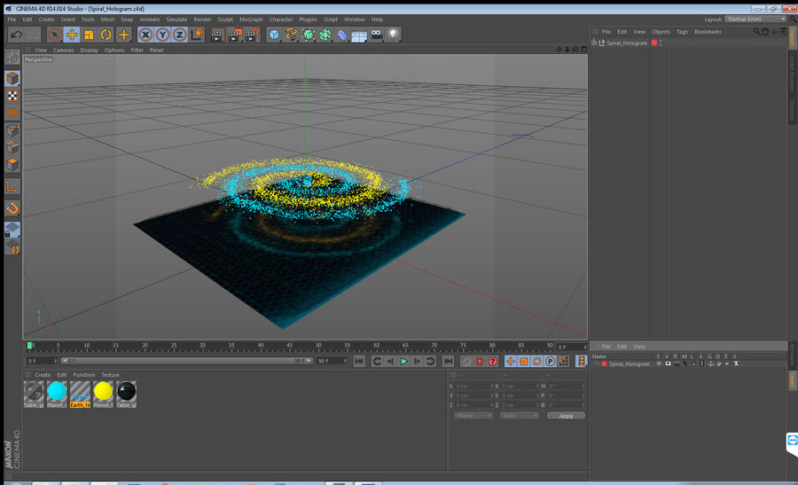 Spiral Hologram 3D Model royalty-free 3d model - Preview no. 15