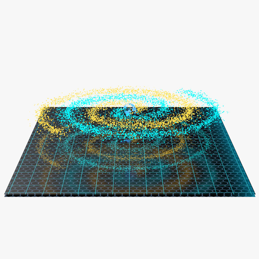 Spiral Hologram 3D Model royalty-free 3d model - Preview no. 1