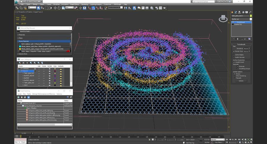 Spiral Hologram 3D Model royalty-free 3d model - Preview no. 16